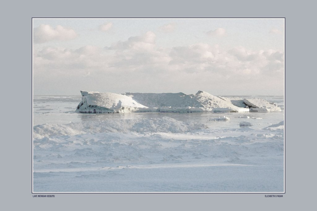 Lake Michigan Iceberg © Elizabeth G Fagan, lakemichigansleftcoast.com, Lake Michigan's Left Coast