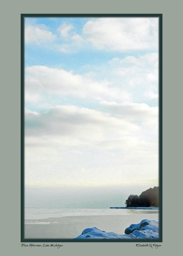 Blue Afternoon Lake Michigan © Elizabeth G Fagan, lakemichigansleftcoast.com, Lake Michigan's Left Coast