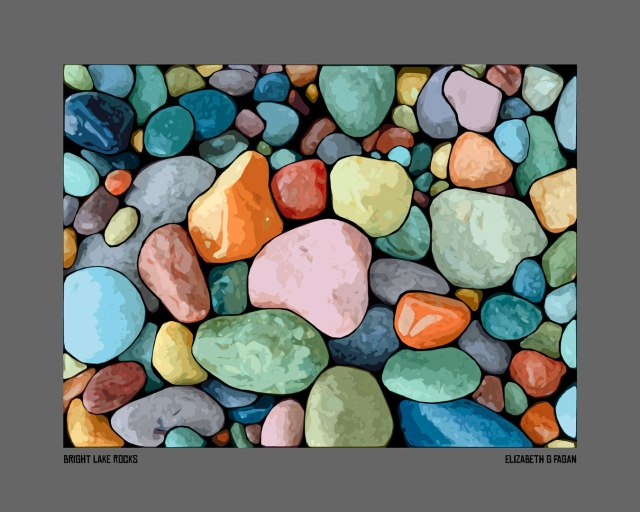 Bright Lake Rocks © Elizabeth G Fagan, lakemichigansleftcoast.com, Lake Michigan's Left Coast