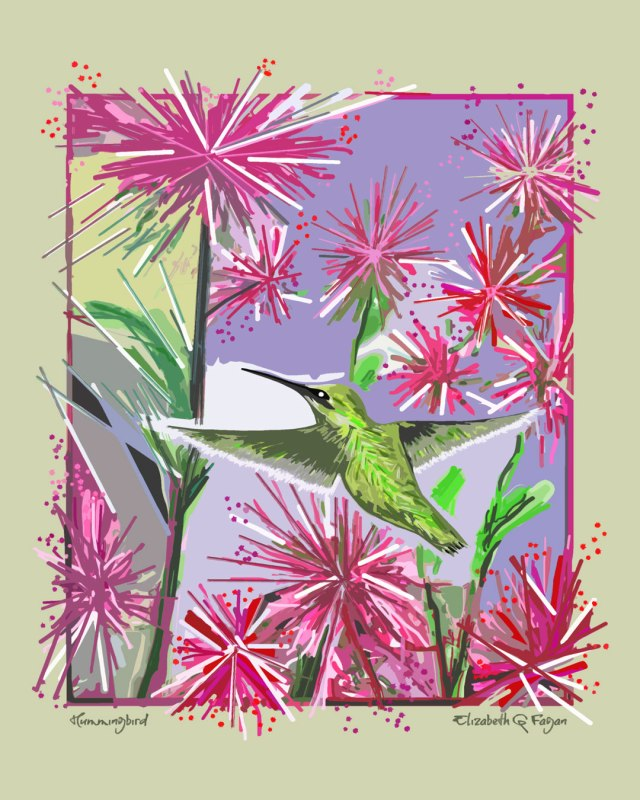 Hummingbird © Elizabeth G Fagan, lakemichigansleftcoast.com, Lake Michigan's Left Coast