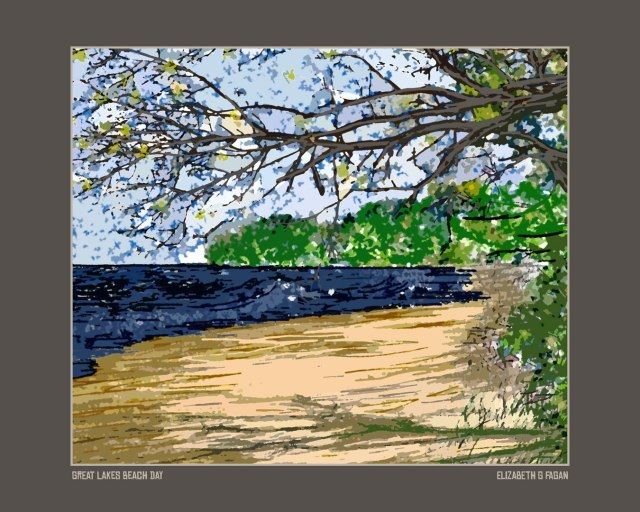 Great Lakes Beach Day, © Elizabeth G Fagan, lakemichigansleftcoast.com, Lake Michigan's Left Coast