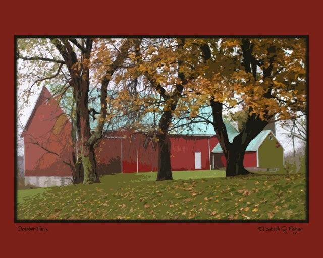 October Farm © Elizabeth G Fagan, lakemichigansleftcoast.com, Lake Michigan's Left Coast