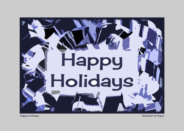 Happy Holidays © Elizabeth G Fagan, lakemichigansleftcoast.com, Lake Michigan's Left Coast